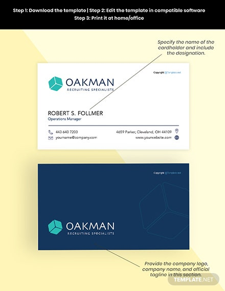 Free Simple HR Business Card Editable