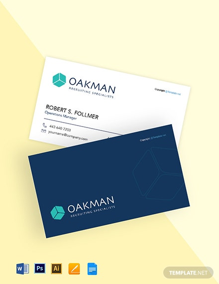 Free Simple HR Business Card Template