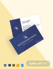Free Modern HR Business Card Template