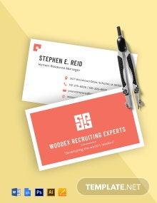 Free Professional HR Business Card Template
