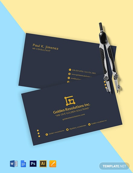 HR Consultant Business Card Template