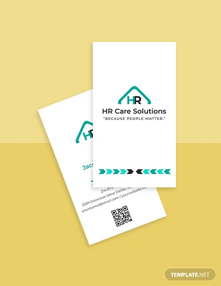 HR admin business card template Format