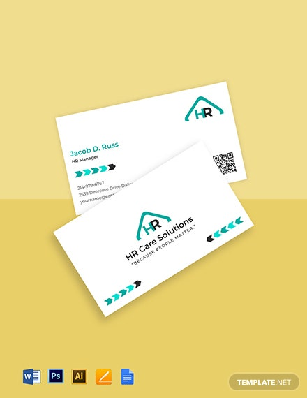 HR admin business card template