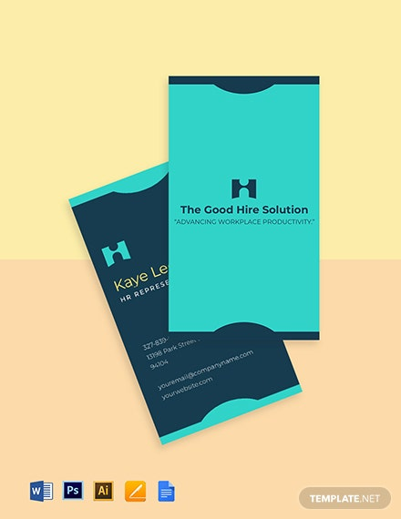 HR Services Business Card Template
