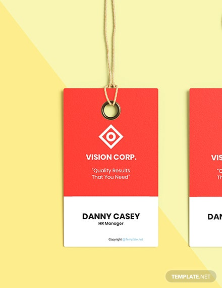 Free HR Manager Name Tag Format