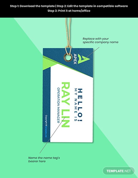 Free HR Operations Name Tag Template Example