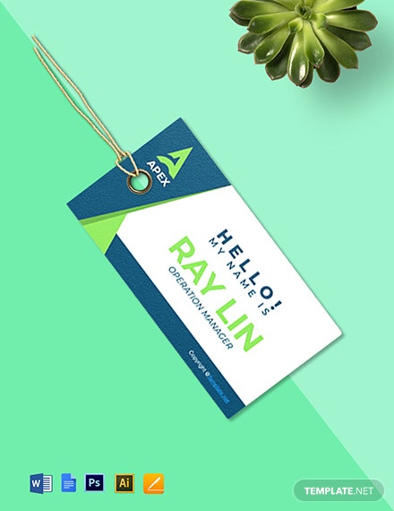 Free HR Operations Name Tag Template