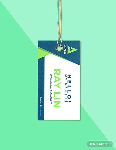 Free HR Operations Name Tag Template Sample