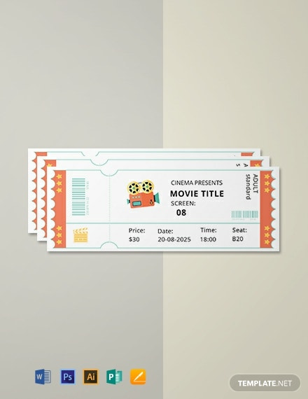 Free Simple Movie Ticket Template