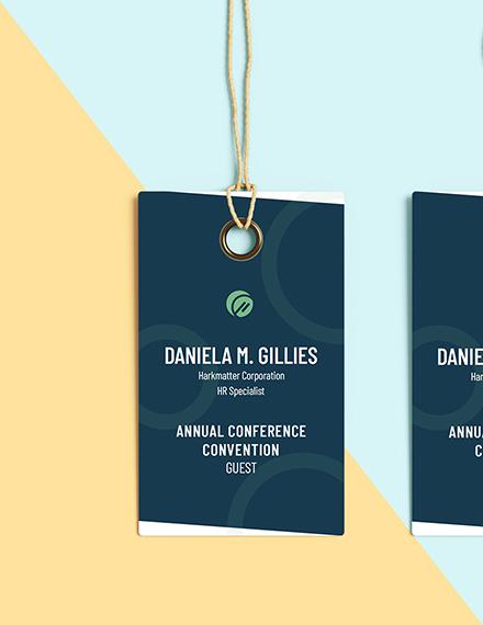 Conference name tag Editable