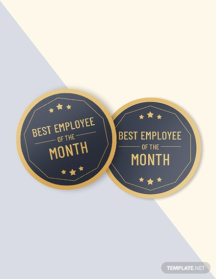 Best Employee Badgeround badge Editable