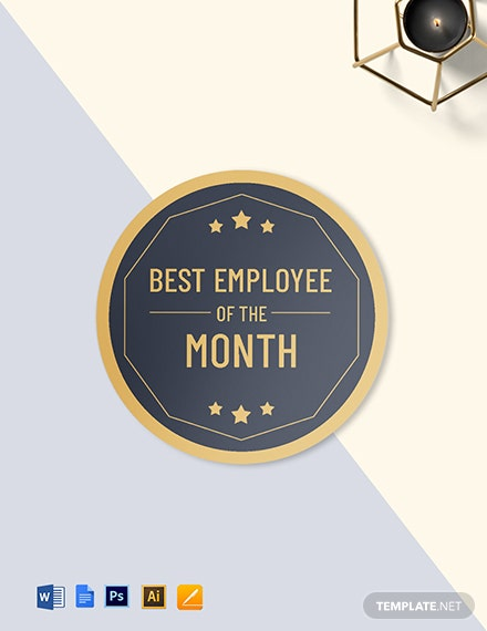 Best Employee Badgeround badge Template