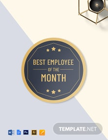 Best Employee Badge (Round Badge) Template