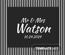 Black and White Gift Tag Template