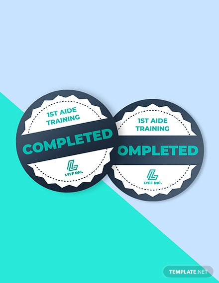 Training completion badge Sample