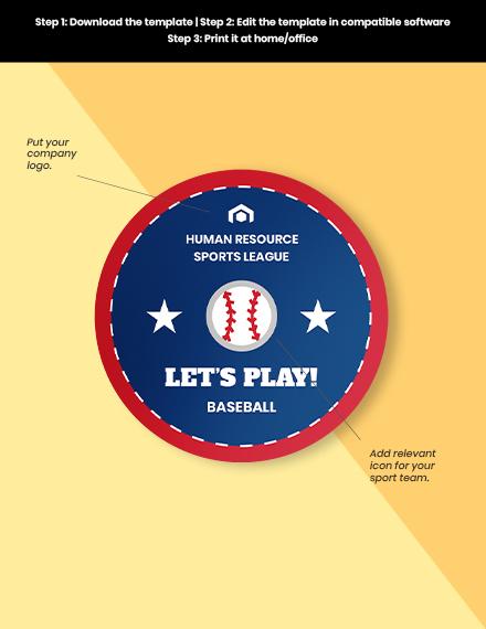 Sports badge round Format