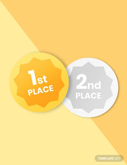 st placend place rd place badge round Format