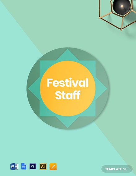 Festival Badge (Round) Template