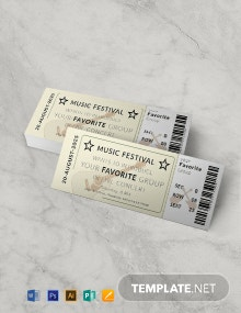 Free Vintage Concert Ticket Template