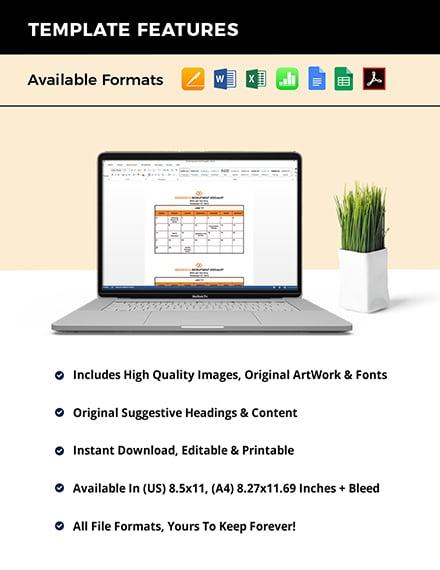HR Annual Planning Calendar Instruction