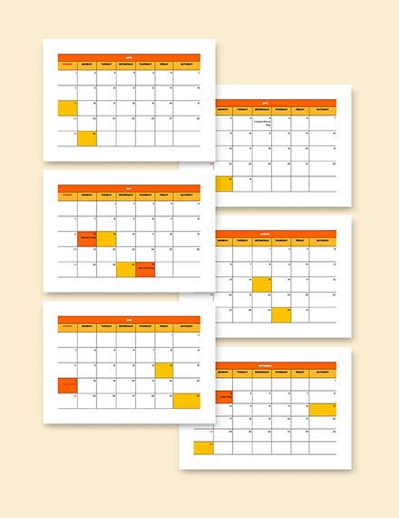 BiWeekly Payroll Calendar Template