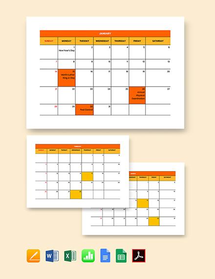 Bi-Weekly Payroll Calendar Template