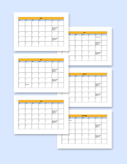 Printable Payroll Calendar