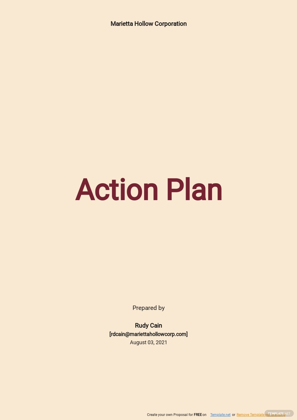 Employee Engagement Action Plan Template