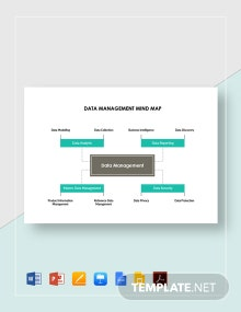 Data Management Mind Map Template