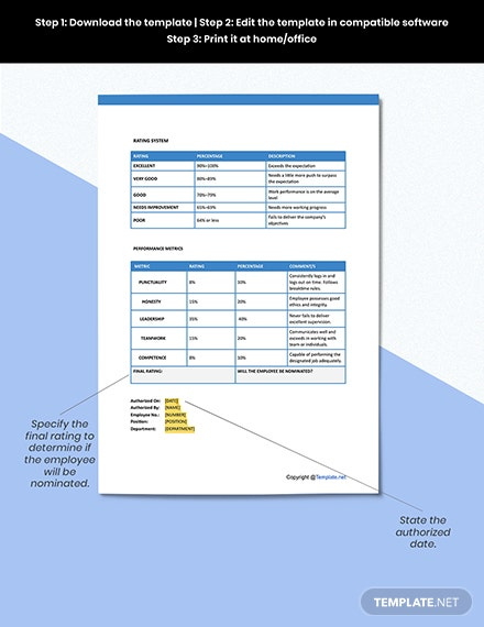 Employee Recognition Format