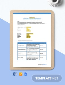 Free Employee Recognition Template