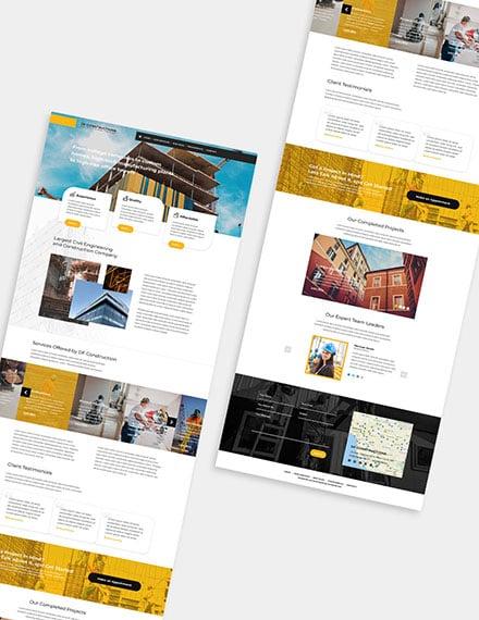 Construction Business Wordpress Theme Format