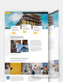 Construction Business WordPress Theme/Template