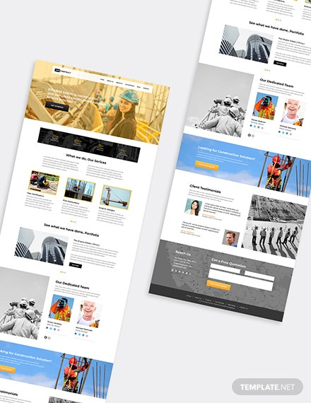 One Page Construction Wordpress Theme Format