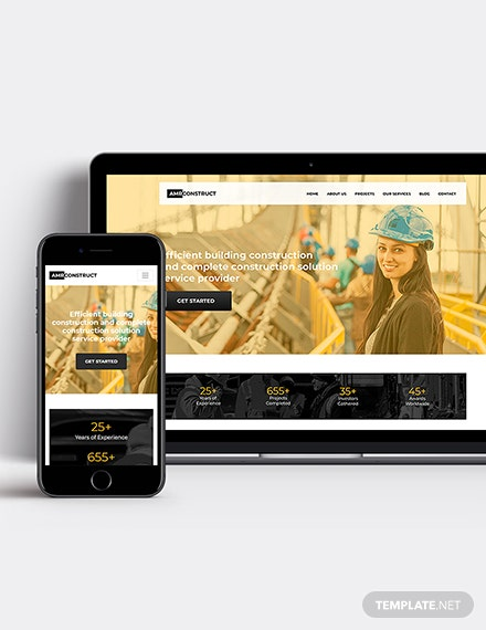 One Page Construction Wordpress Theme Template