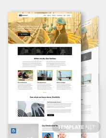 One Page Construction WordPress Theme/Template