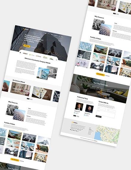 Simple Construction Wordpress Theme Format