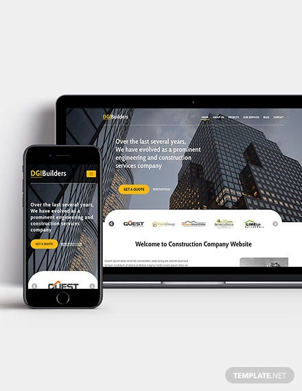 Simple Construction Wordpress Theme Template