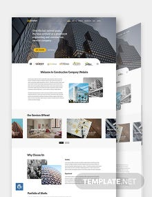 Simple Construction WordPress Theme/Template