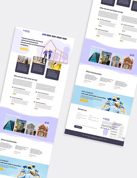 Building Company Wordpress Theme  Format