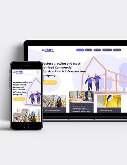 Building Company Wordpress Theme Template