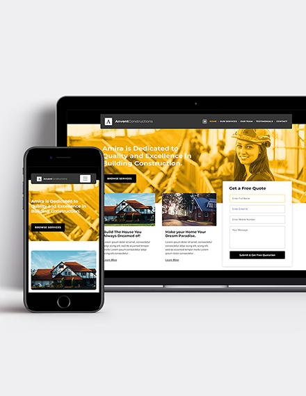 Building Construction Wordpress Theme Template