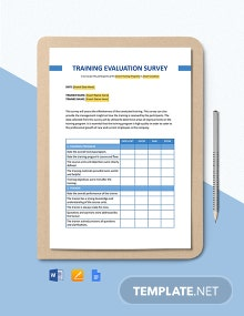 Training Evaluation Survey Template