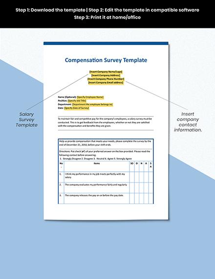 Compensation Survey Sample