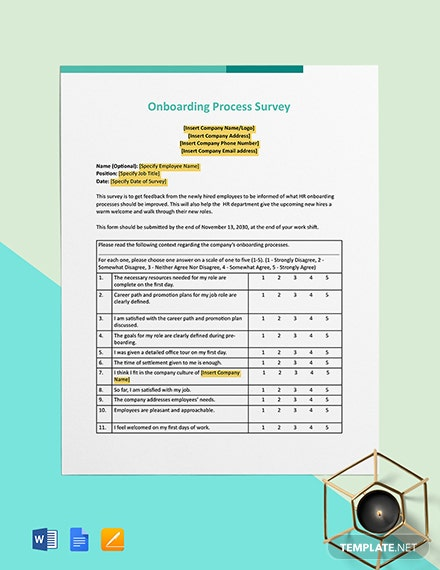 Onboarding Process Survey Template