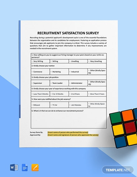 Recruitment Satisfaction Survey Template