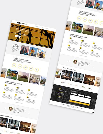 Construction Builder WordPress Theme Format