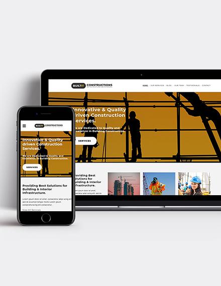 Construction Builder WordPress Theme Template
