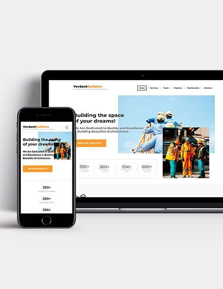 Builder Wordpress Theme Template