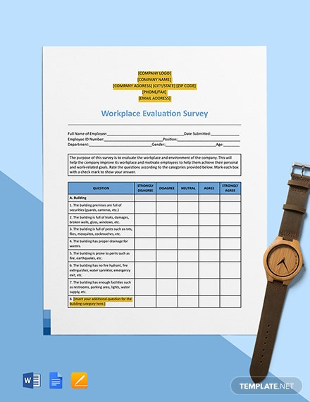 Workplace Evaluation Survey Template